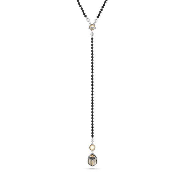 Multi-wear Scarab Necklace by Azza Fahmy