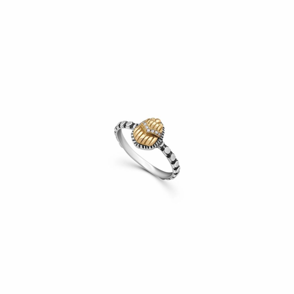 Stackable Scarab Ring by Azza Fahmy