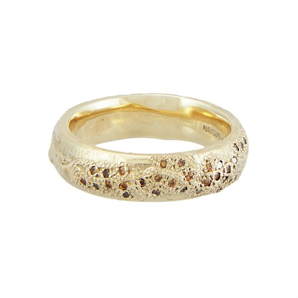 LXIVV Cognac Diamond Half Eternity Band by Ellis Mhairi Cameron