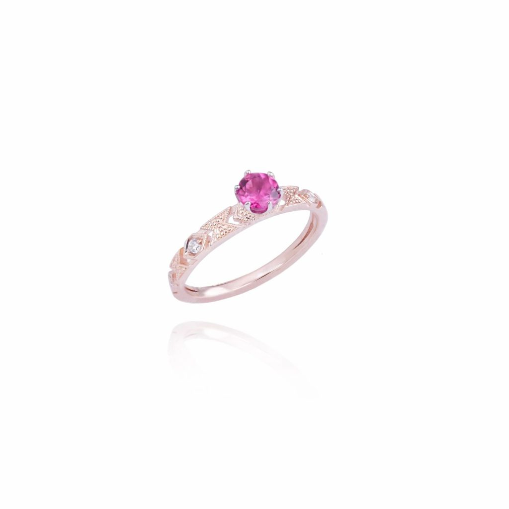 Delicacy Ring with Baby Tourmaline by Mocielli