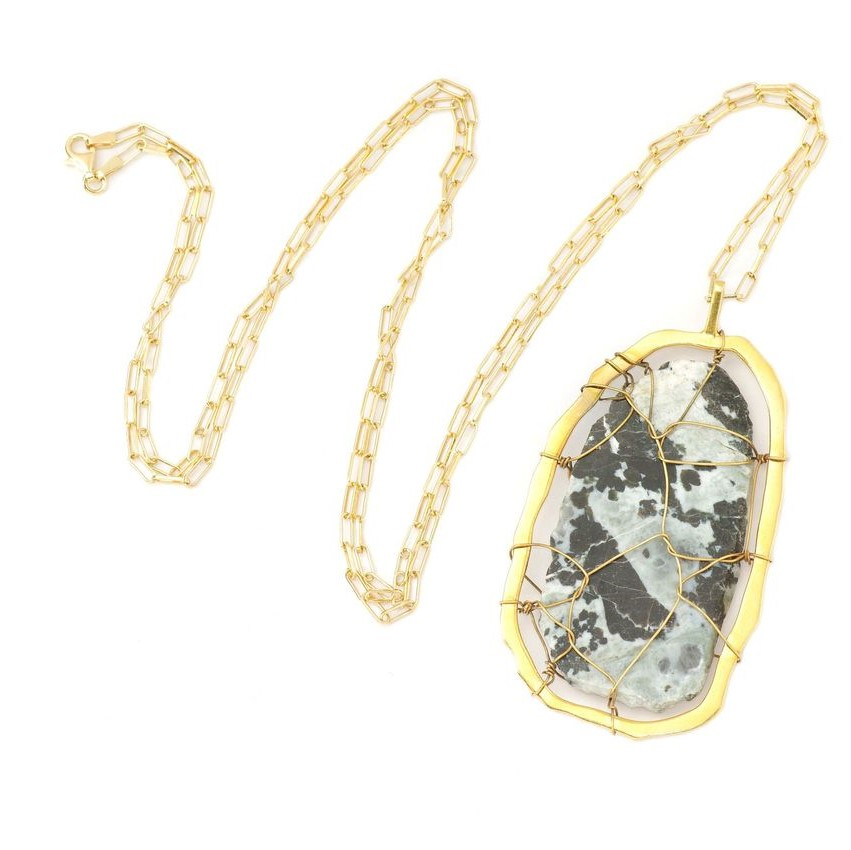Sienna Jasper Pendant Necklace by NIIN