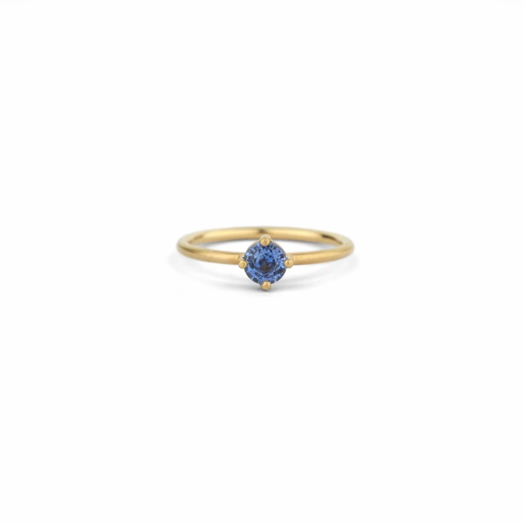 Round Solo Ring – Sapphire by Shimell & Madden
