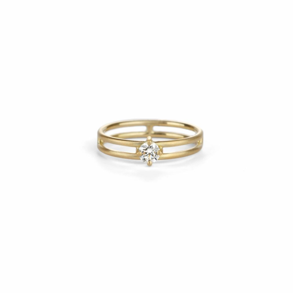 Solo Split Diamond Ring by Shimell & Madden