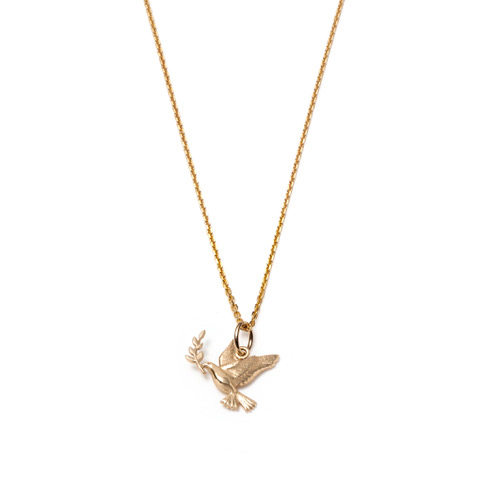 Global Goal #16 Peace Necklace 14K Gold with Diamonds by With Love Darling