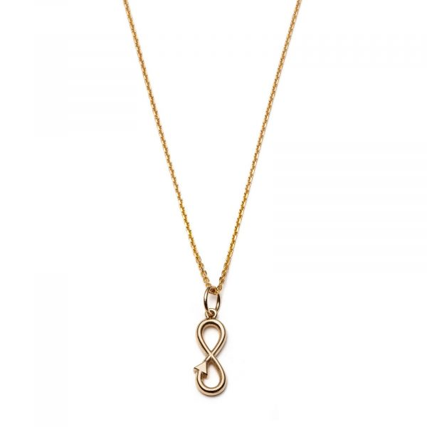 Global Goal #12 Infinity Necklace 14K Gold with Diamonds by With Love Darling