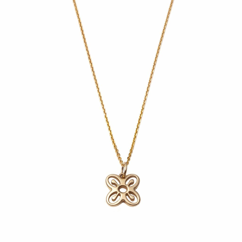 Global Goal #2 Bese Saka Necklace 14k Gold with Diamonds by With Love Darling