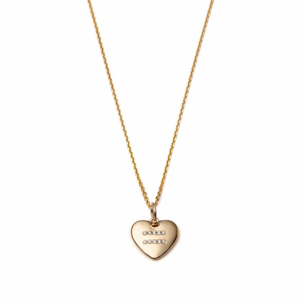 Global Goal #5 Equality Necklace 14k Gold with Diamonds by With Love Darling