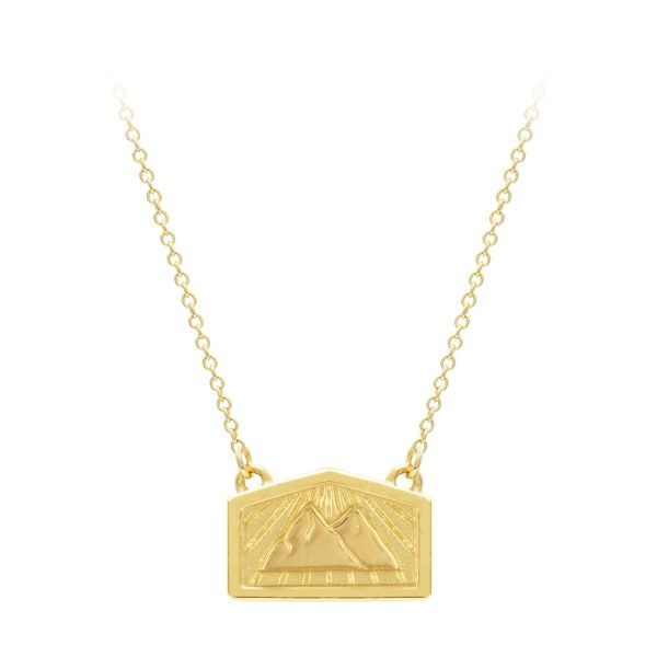 Peace & Strength – Mountain Mini Wish Necklace by A World Entire