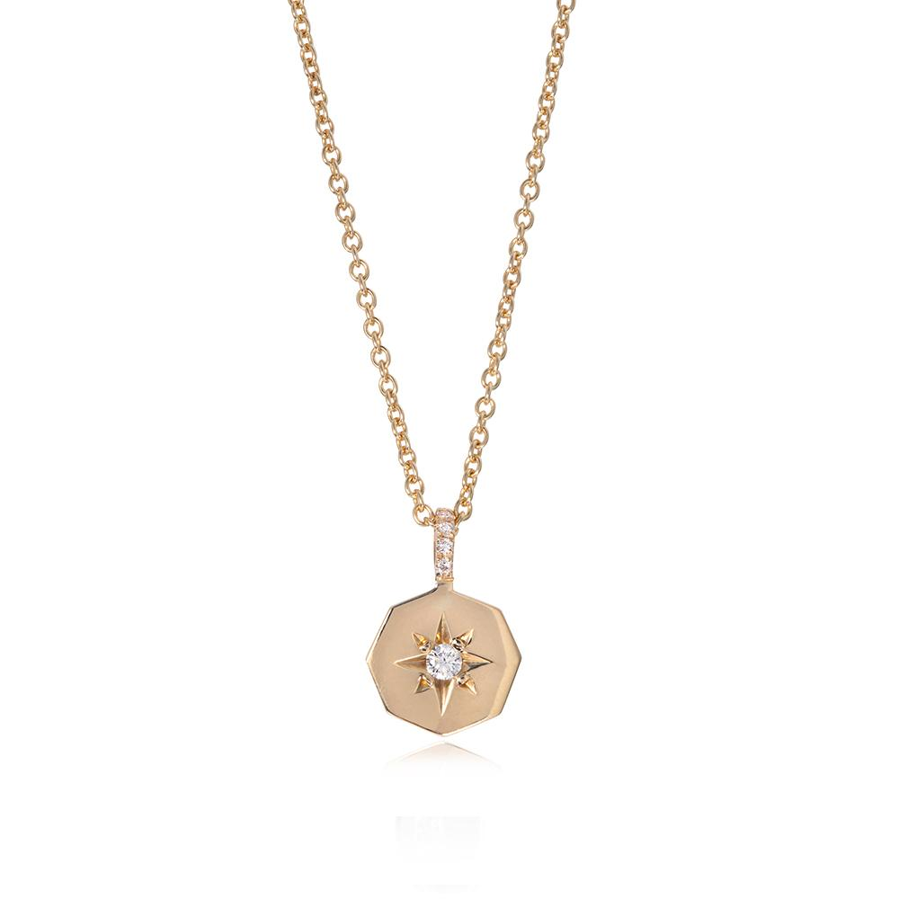 Diamond Octagon Necklace by Ellie Air
