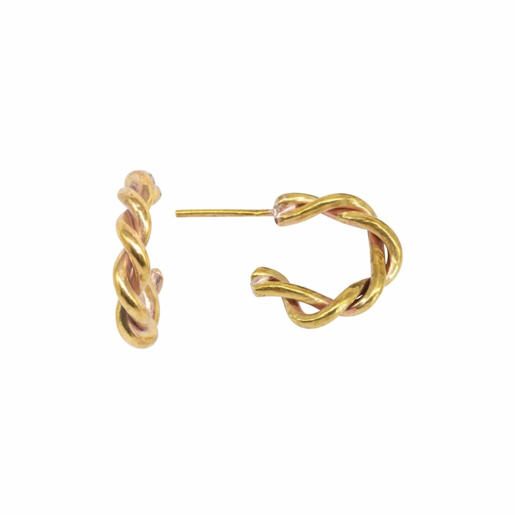 Entwined Small Hoop Earrings by Lily Flo Jewellery