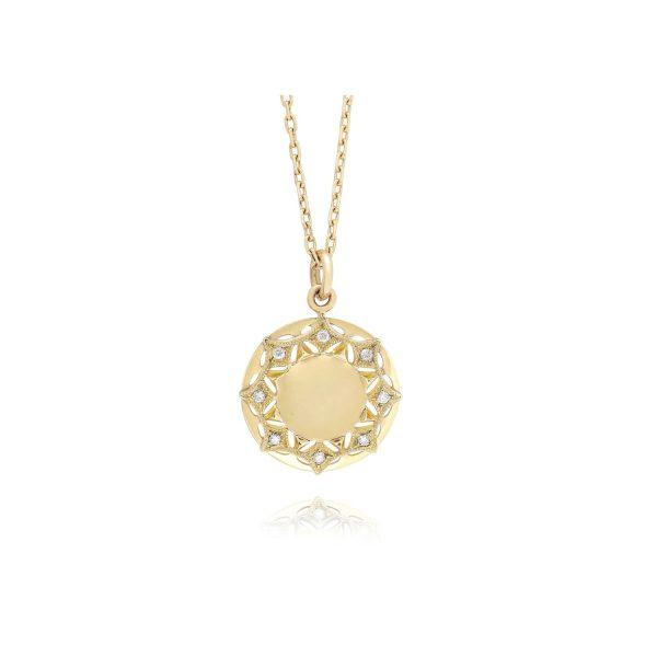 Queen of Diamonds Sun Pendant Necklace by Mocielli
