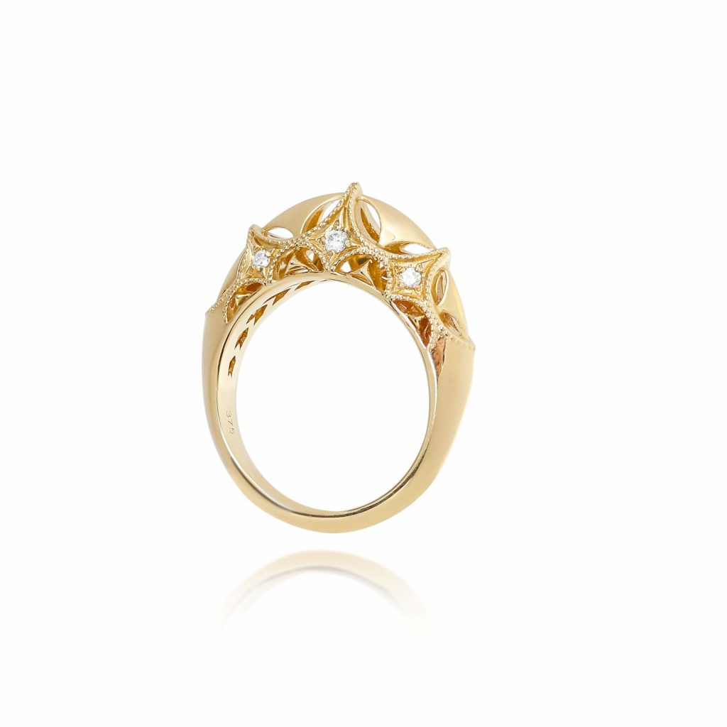 Queen of Diamonds Brave Ring by Mocielli