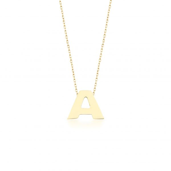 Alpha Charm Necklace – Letter A by GFG Jewellery