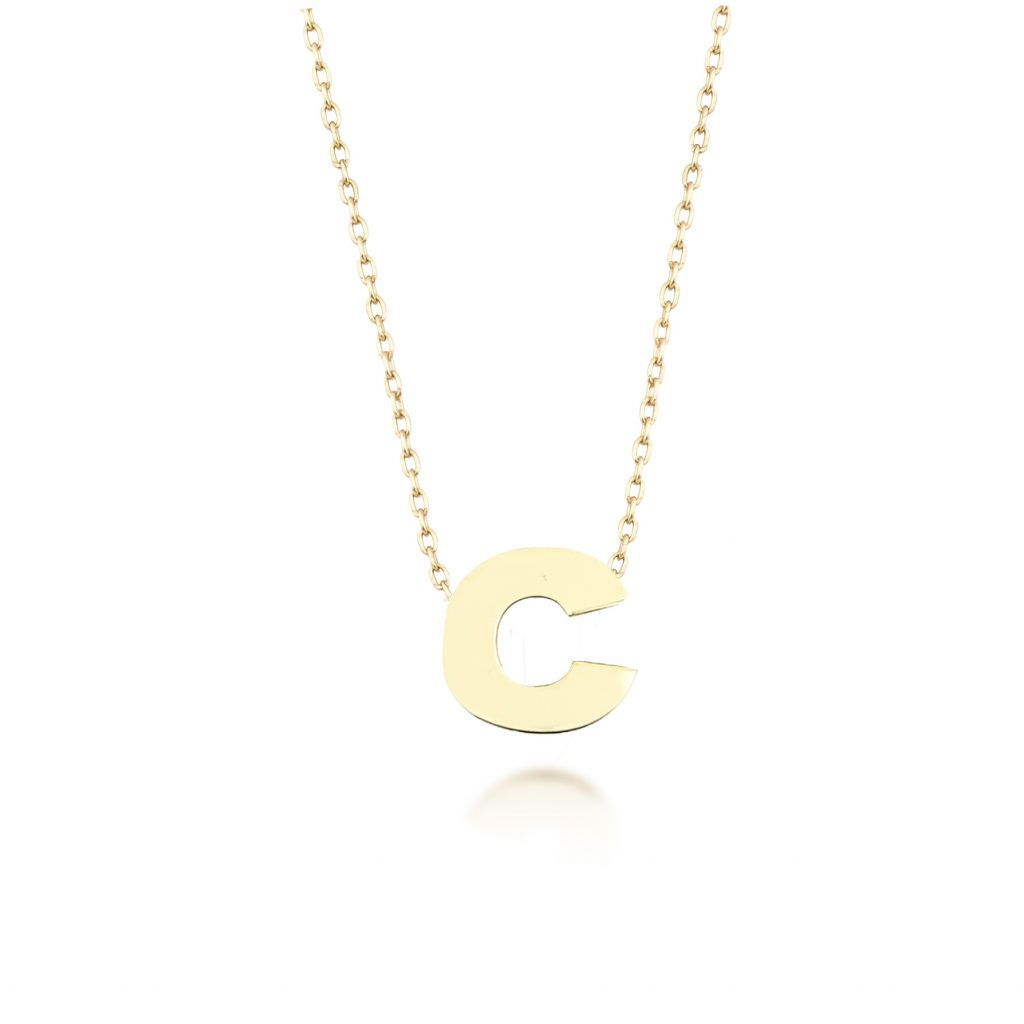 Alpha Charm Necklace – Letter C by GFG Jewellery