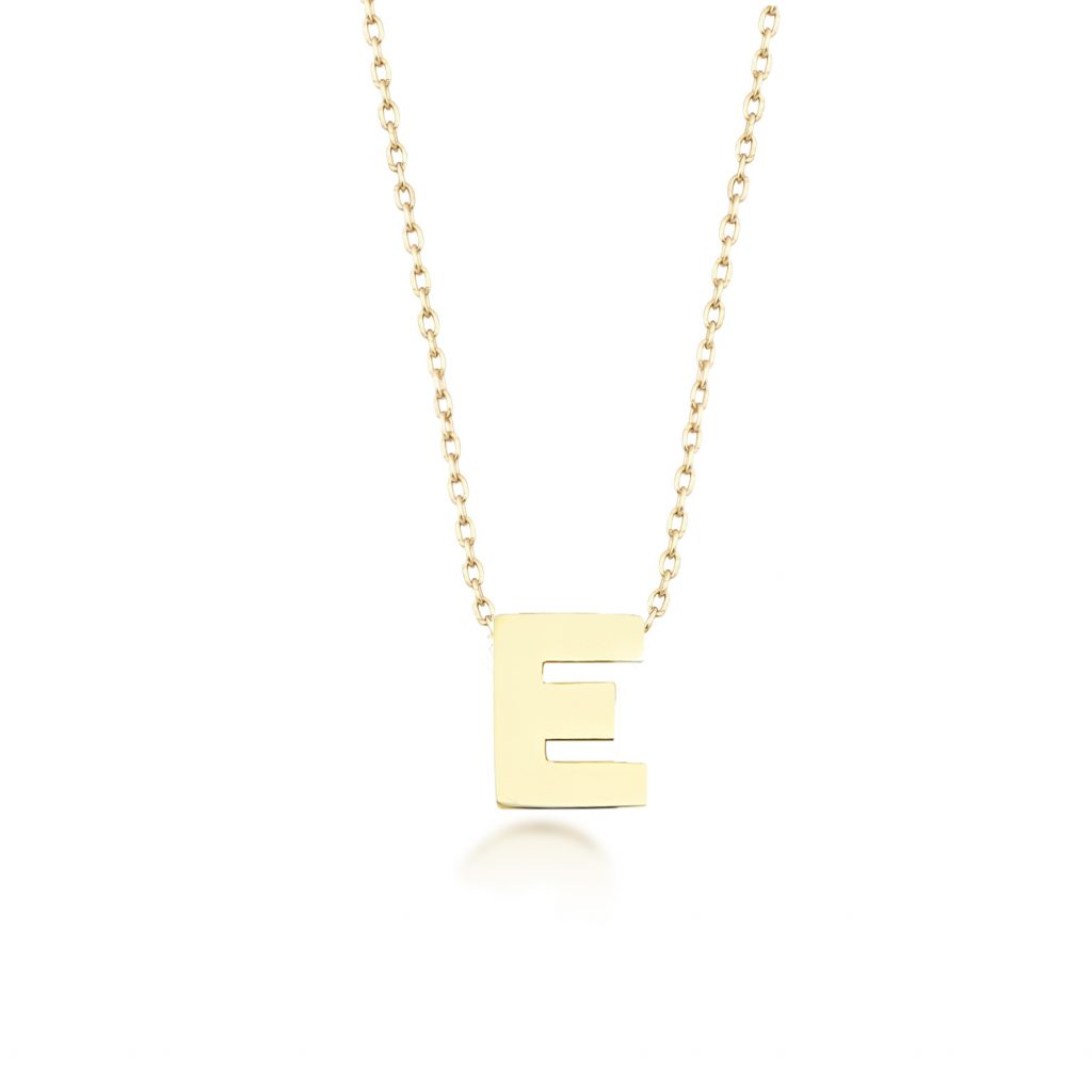 Alpha Charm Necklace – Letter E by GFG Jewellery