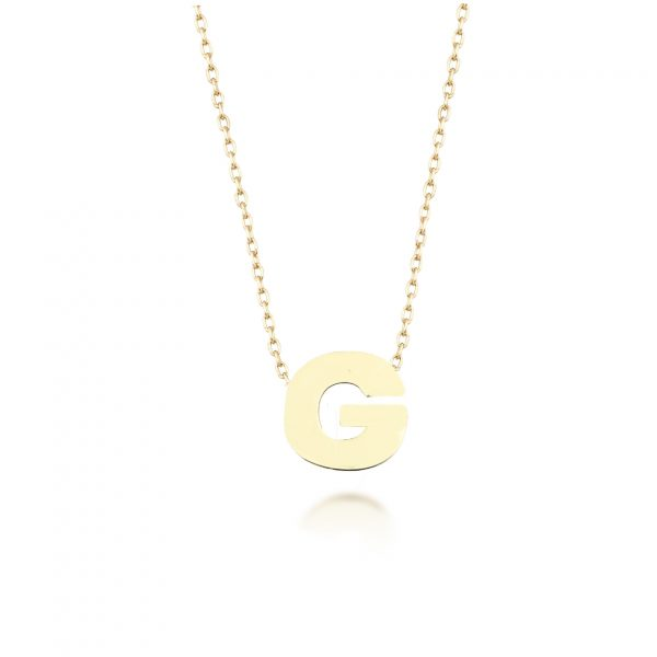 Alpha Charm Necklace – Letter G by GFG Jewellery