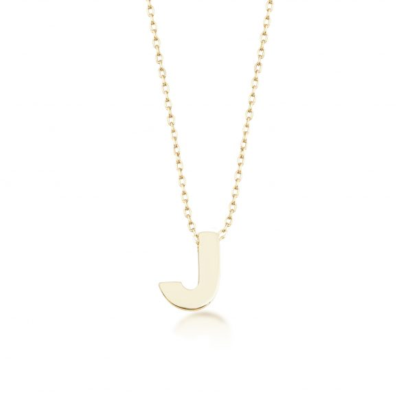 Alpha Charm Necklace – Letter J by GFG Jewellery