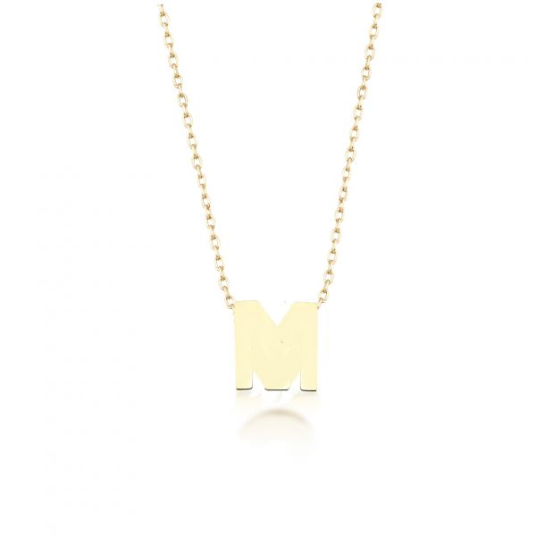 Alpha Charm Necklace – Letter M by GFG Jewellery