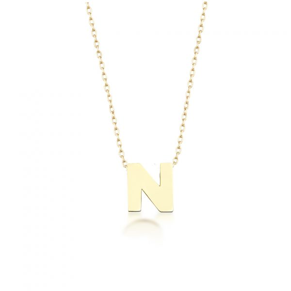 Alpha Charm Necklace – Letter N by GFG Jewellery
