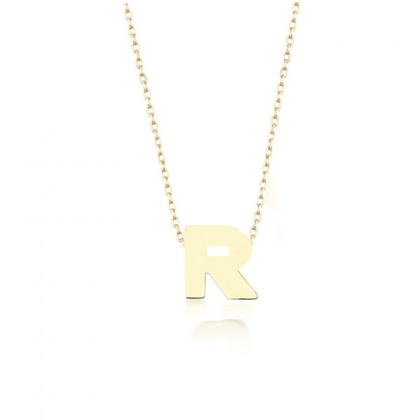 Alpha Charm Necklace – Letter R by GFG Jewellery