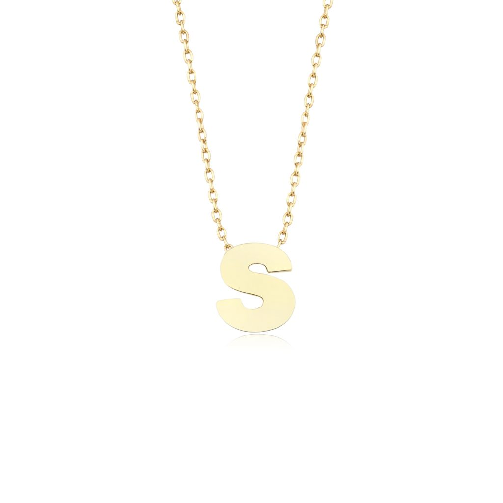 Alpha Charm Necklace – Letter S by GFG Jewellery