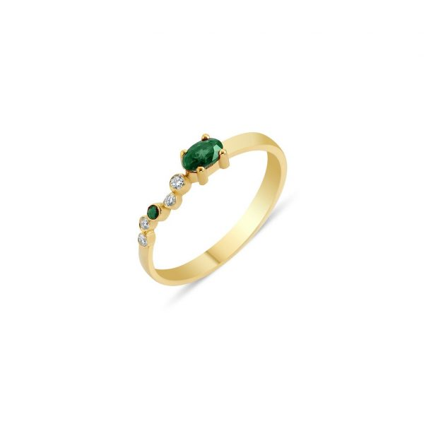Seraphina Wing Emerald Ring by GFG Jewellery