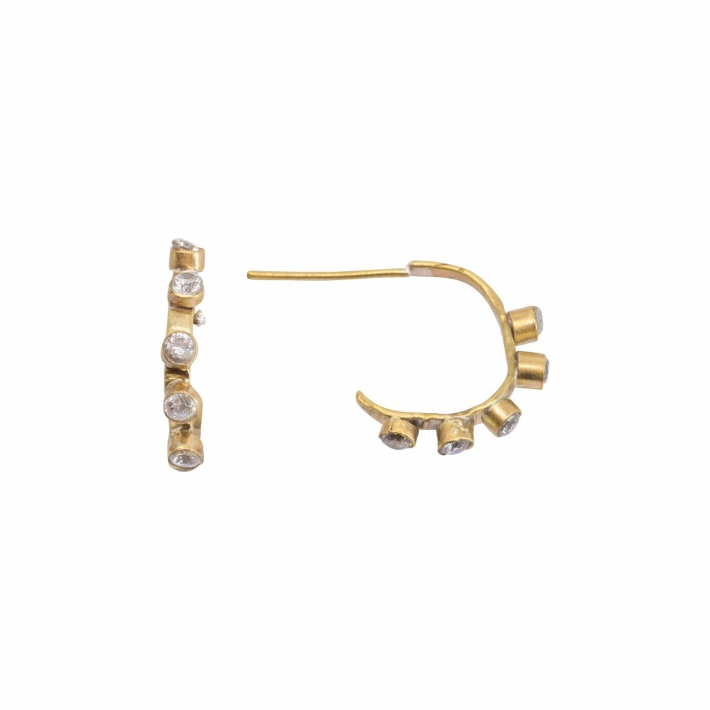 Altair Five Diamond Hoop Earrings by Lily Flo Jewellery