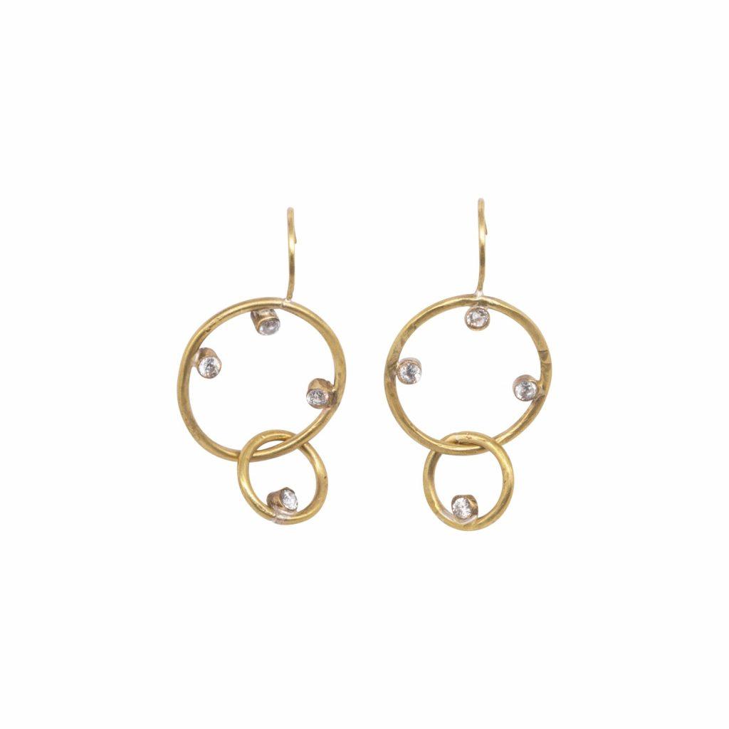 Deneb Double Drop Earrings by Lily Flo Jewellery