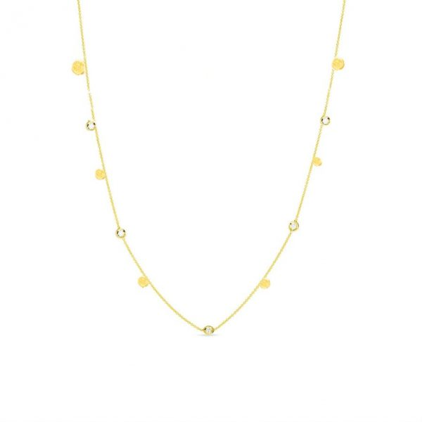 Scattered Stars Full Necklace with Five Diamonds by Lily Flo Jewellery