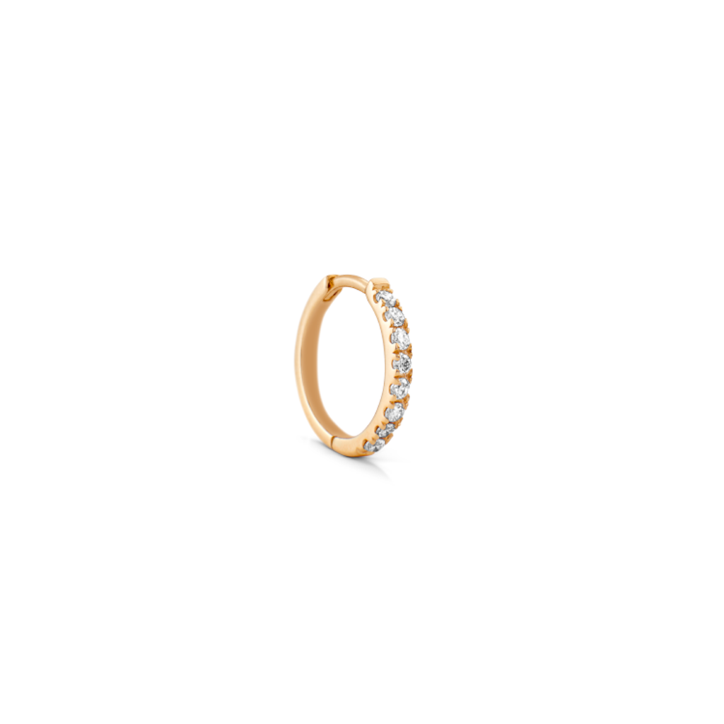 Rock Classic Diamond Hoop Earring by Ro Copenhagen