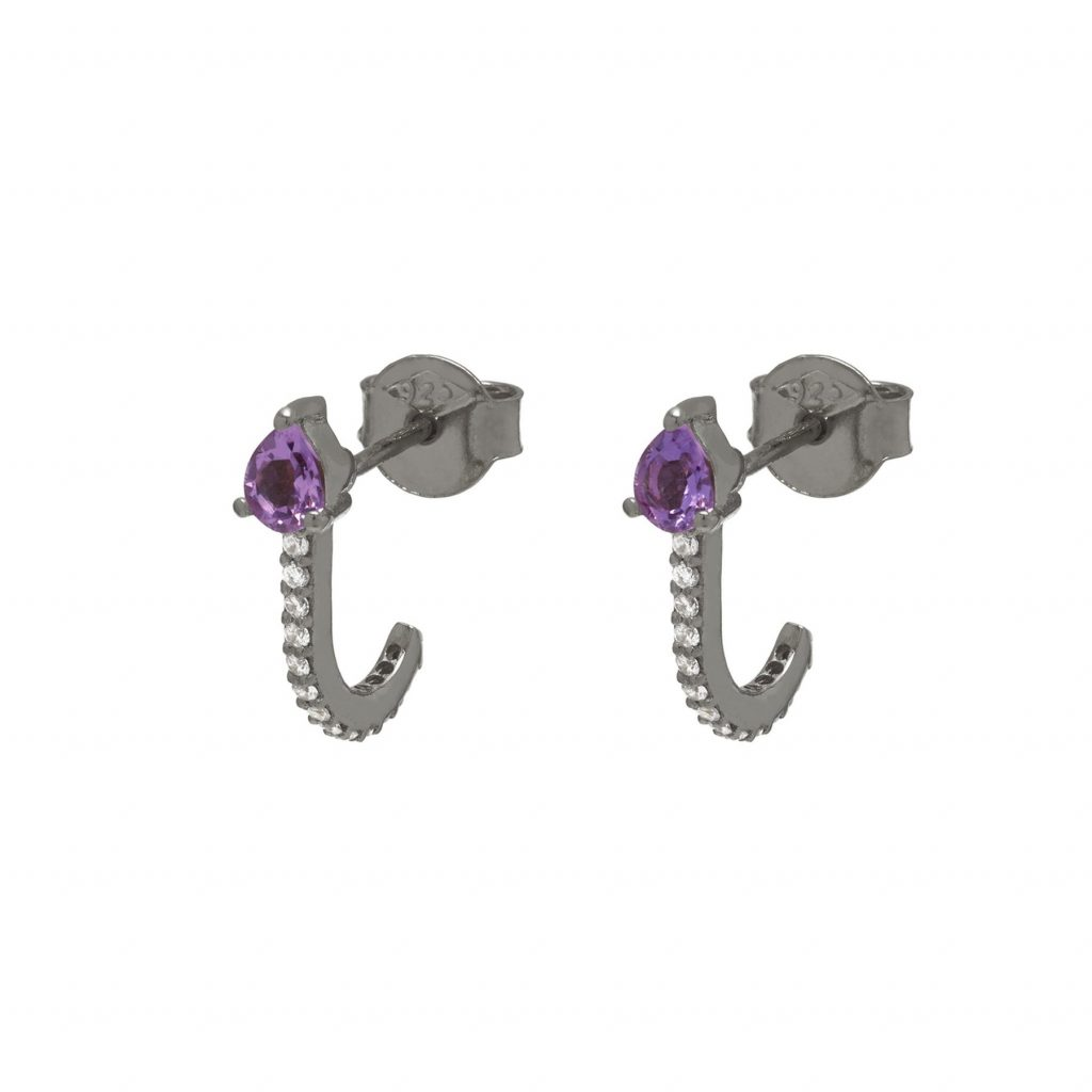 Amethyst Huggie Earrings by Assya
