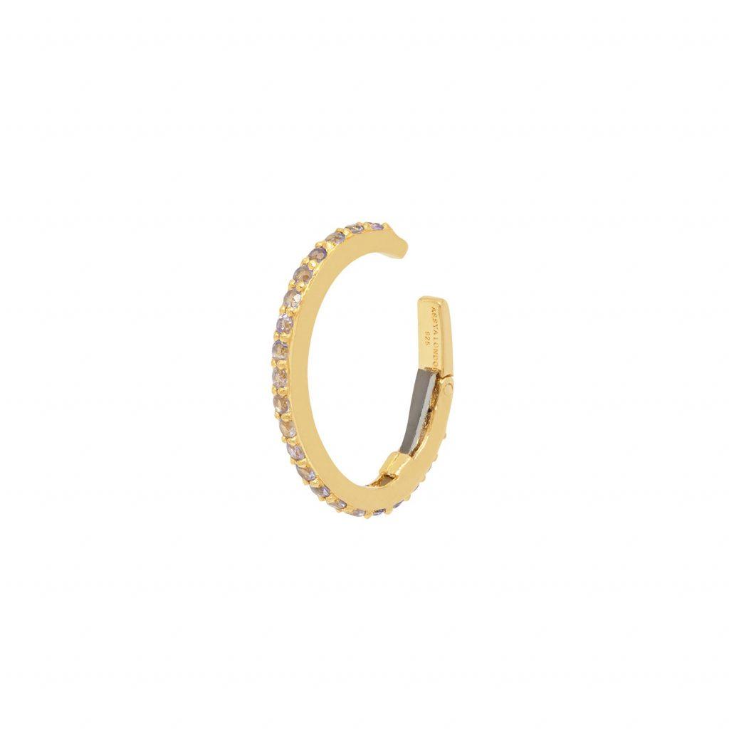 Eclipse Ear Cuff Gold and Tanzanite by Assya
