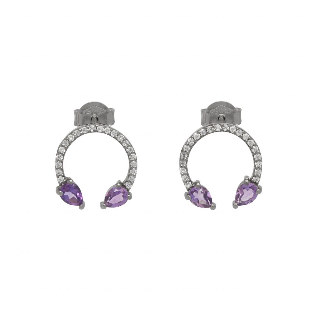 Eclipse Lucky Earrings Amethyst by Assya