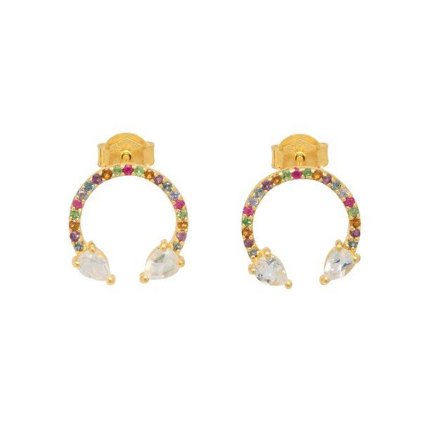 Eclipse Lucky Earrings Moonstone by Assya