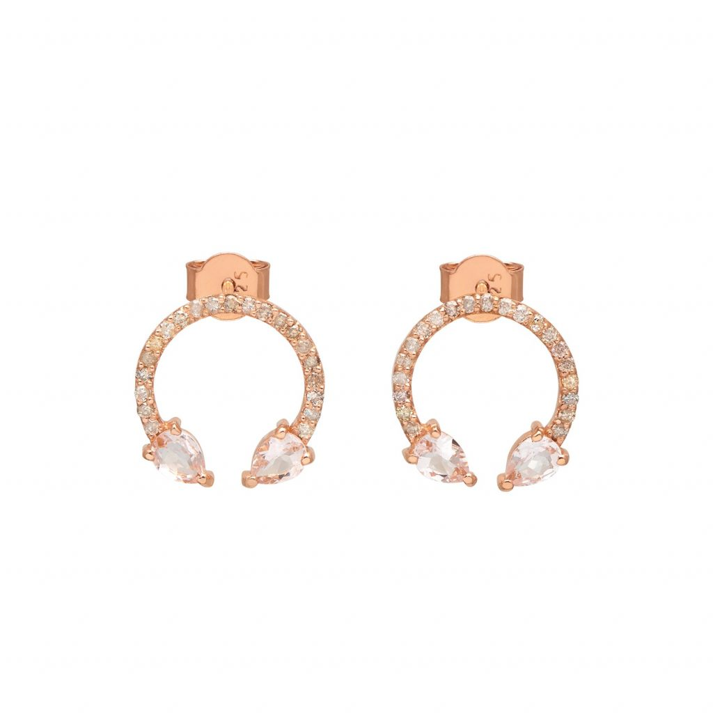 Eclipse Lucky Earrings Morganite by Assya