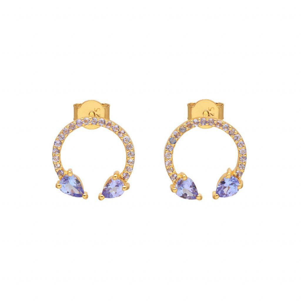 Eclipse Lucky Earrings Tanzanite by Assya