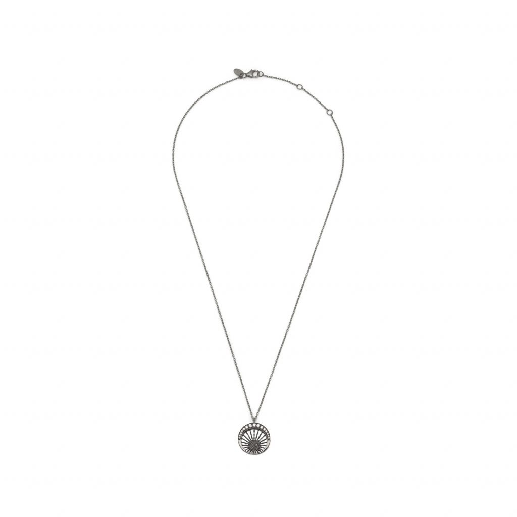 Moonlight Pendant Black Rhodium by Assya