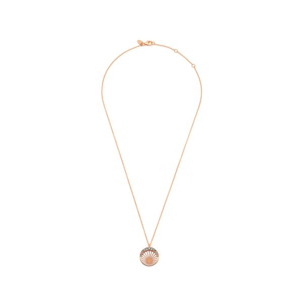 Moonlight Pendant Rose Gold and Blue Topaz by Assya