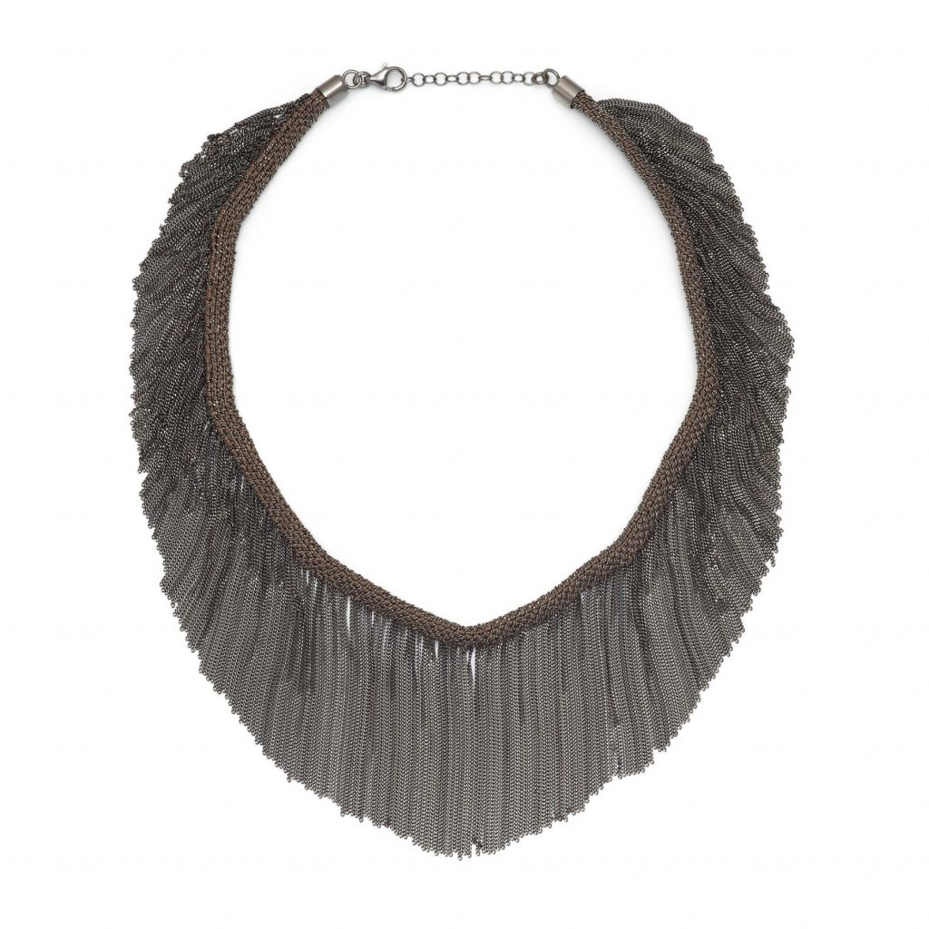 Panama Fringe Choker Brown and Black by Assya