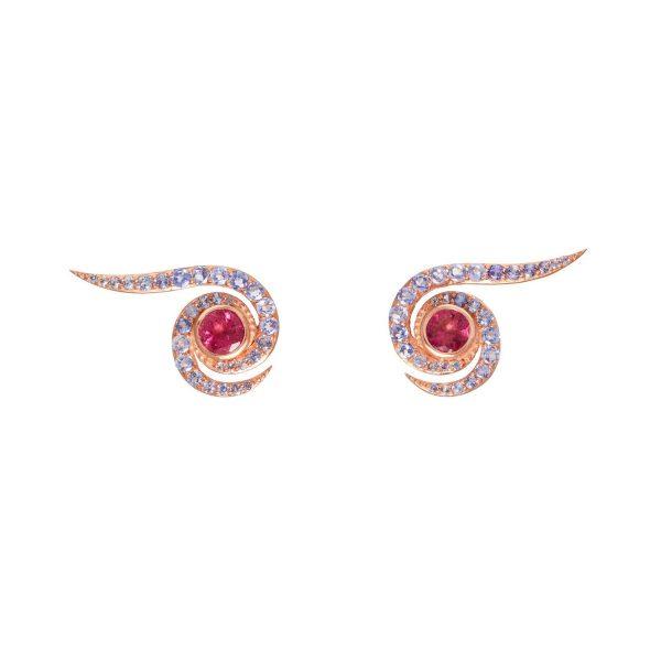 Spiral Earrings Rose Gold by Assya