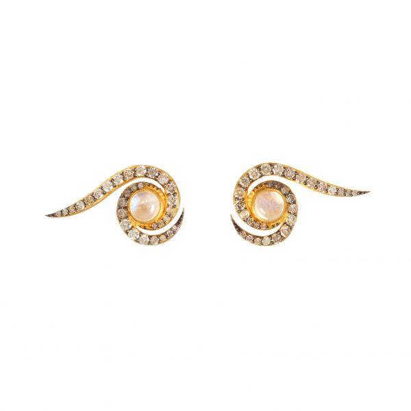 Spiral Earrings Gold by Assya