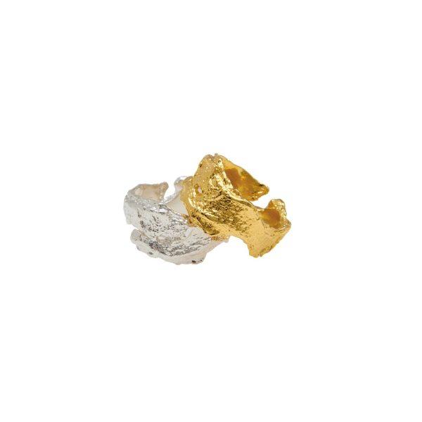 Unisex Bark Ring in Gold Vermeil by Deborah Blyth