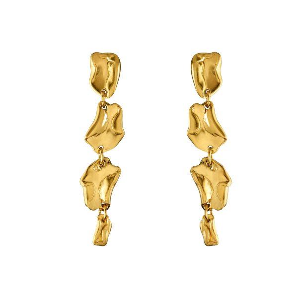 Wave Drop Stud Earrings by Deborah Blyth