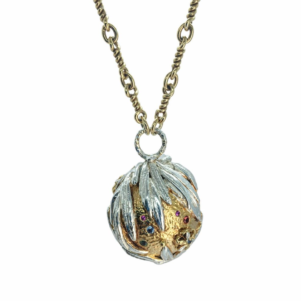 Full Metal Globo Necklace by KAB Jewellery