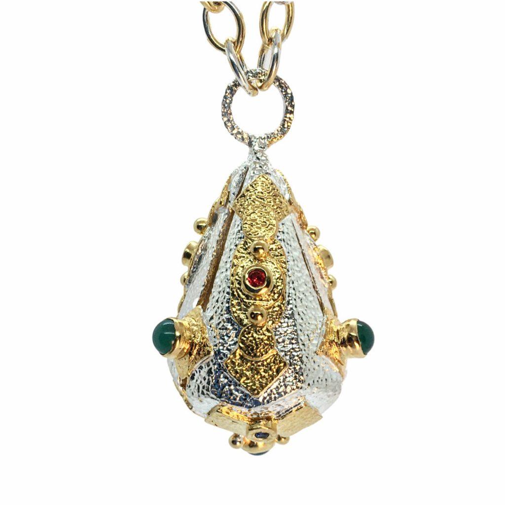 Geo Lantern Necklace by KAB Jewellery