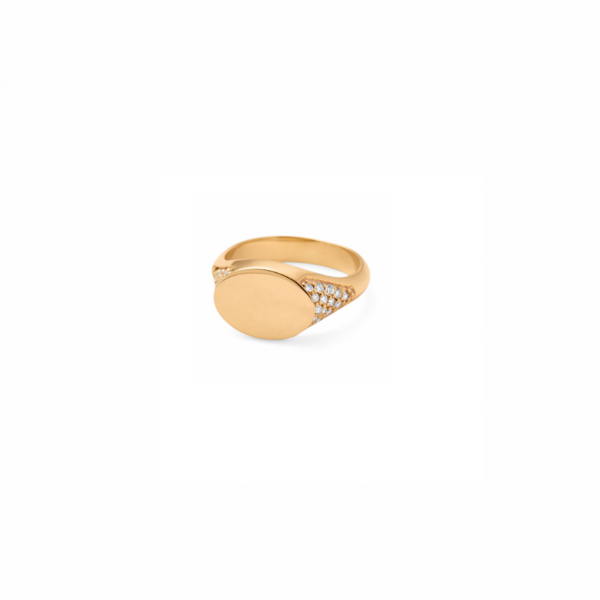 Rock Diamond Signet Ring by Ro Copenhagen