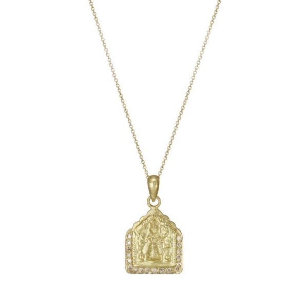 Diamond Goddess Amulet Necklace by Sophie Theakston