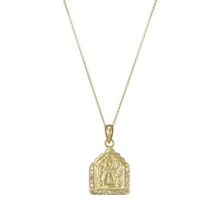 Diamond Goddess Amulet Necklace by Sophie Theakston