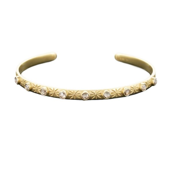Diamond Moon and Back Cuff by Sophie Theakston