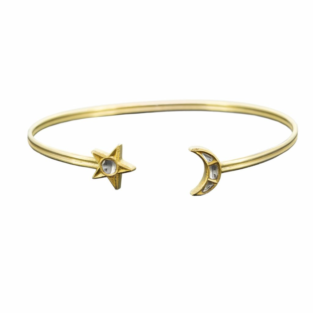 Star and Moon Polki Cuff by Sophie Theakston
